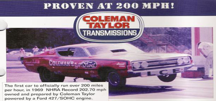 larry coleman funny car – 1st to hit 200 mph
